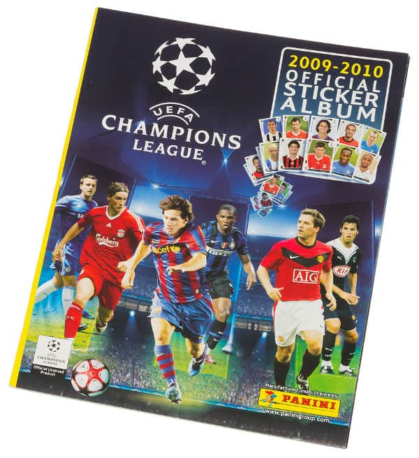 Panini Champions League 2009-2010 album anteriore
