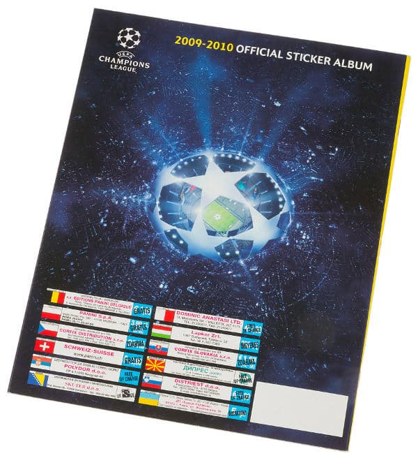 Panini Champions League 2009-2010 album posteriore