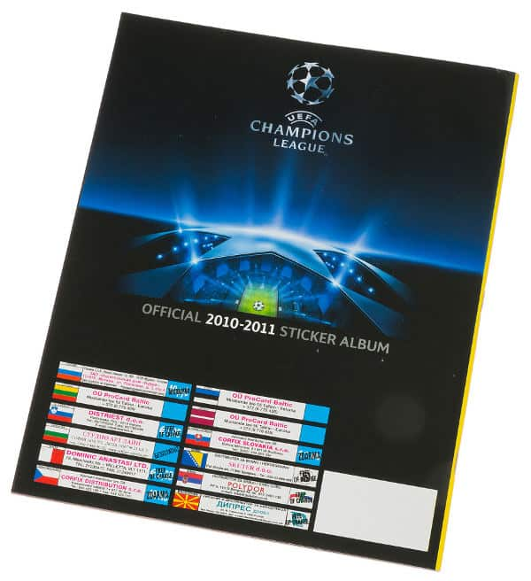 Panini Champions League 2010-2011 album posteriore