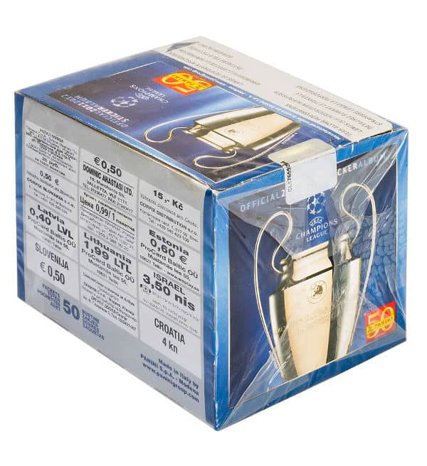 Panini Champions League 2011-2012 scatola - box pagina
