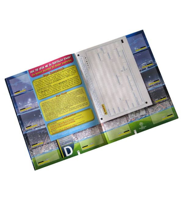Panini Champions League 2012-2013 album modulo d'ordine