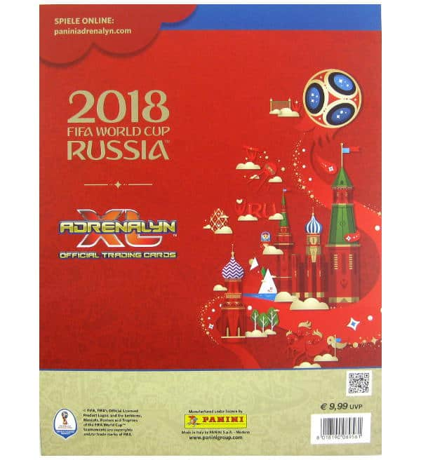 Panini Russia 2018 Adrenalyn XL Premium Gold retro