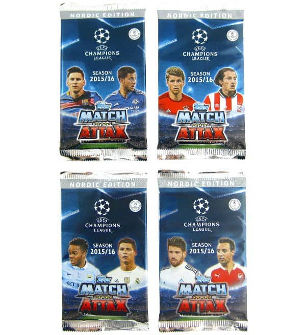 Topps CL Match Attax 2015 / 2016 Nordic Edition bustine