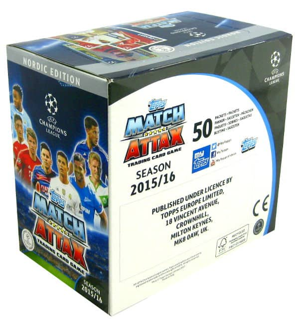 Topps CL Match Attax 2015 / 2016 Nordic Edition 300 cards