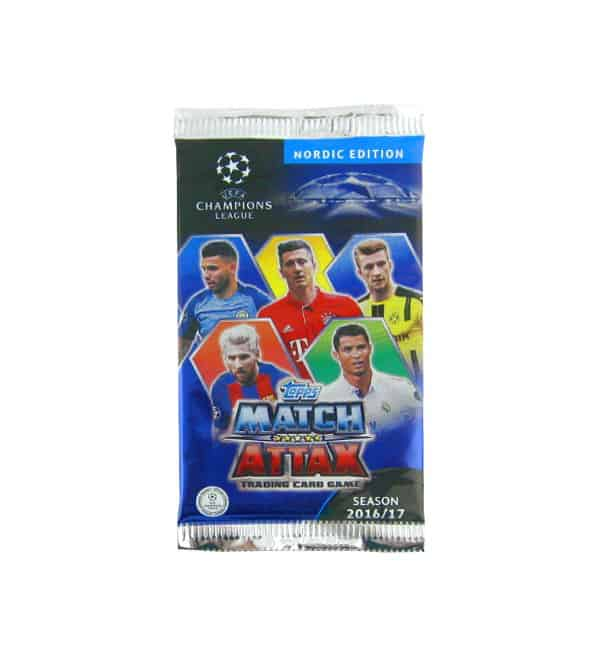 Topps CL Match Attax 2016 / 2017 Nordic Edition bustina