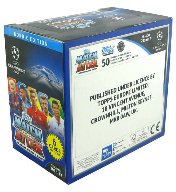 Topps CL Match Attax 2016 / 2017 Nordic Edition 300 cards