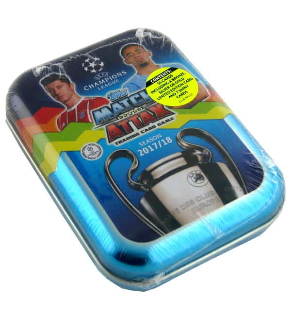 Topps CL Match Attax 2017 / 2018 Pocket Tin