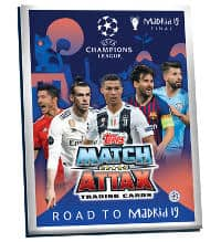 Topps CL Match Attax Road To Madrid 19 Raccoglitore Carte