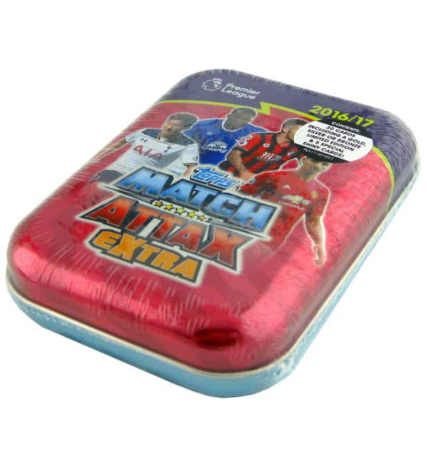 Topps PL Match Attax Extra 2016 / 2017 Pocket Tin Rosso